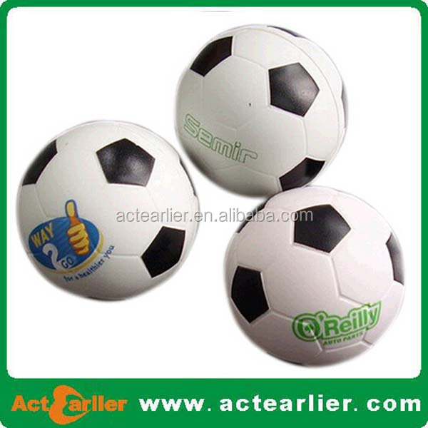 6.3/7/10cm PU foam soccer ball anti stress ball