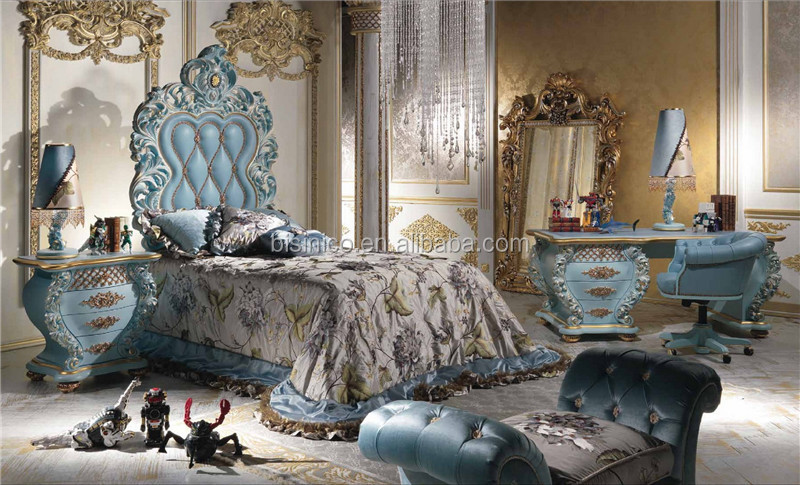 Italian Luxury Design Children Bedroom Furniture Set, Elegant Pink Princess  Bedroom Set, Latest Ornate