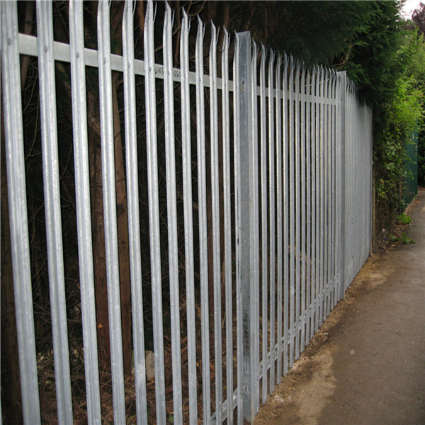 2.75m steel w pale hot dip galvanized palisade fencing