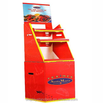 Products Promotional Factory Manufacture Cardboard Ceramic Tile Display  Stand / Foldable Vegetable Promotional Stand Rack