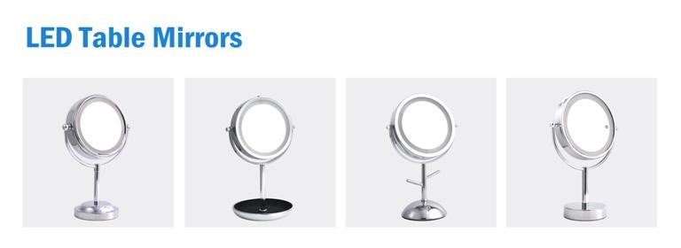 Amazon vendedor top Lupa portátil sem fio levou iluminado penteadeira espelho de maquiagem
