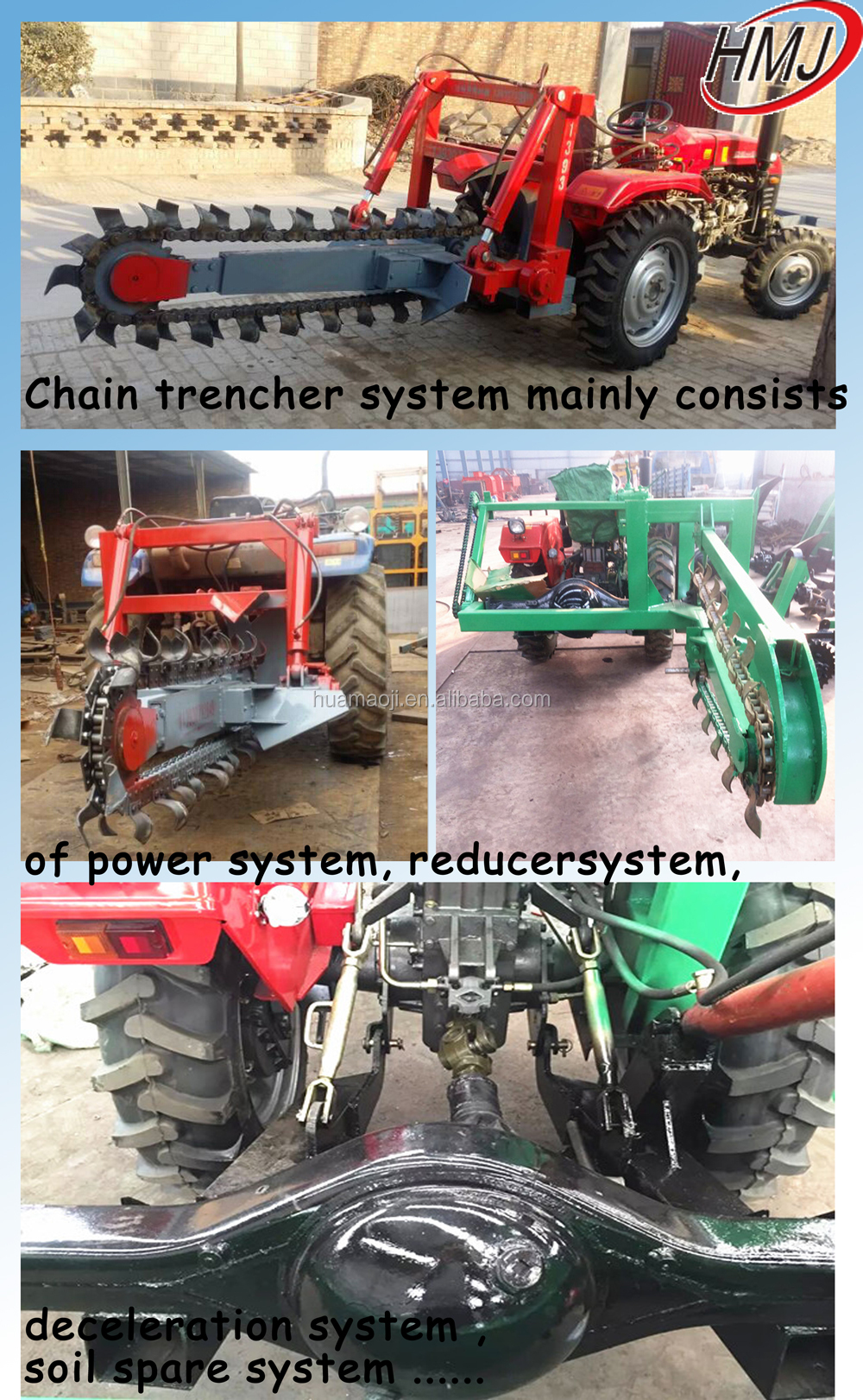 China Supplier Tractor Trencher Ditch Witch Machine