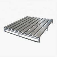 Customized single faced durable high quality stackable industrial warehouse steel powder coating metal pallet for sale
