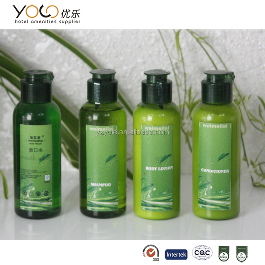 Chá verde natural do hotel shampoo/chuveiro