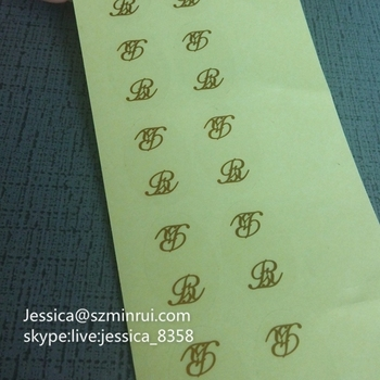High Quality Custom Transparent Vinyl Stickers Permanent Adhesive Die Cut Stickers Clear Gold Foil Stamped Labels