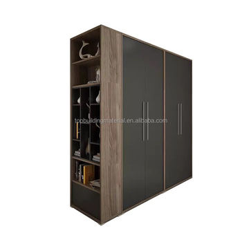 Custom design Australia grey wardrobe with walnut