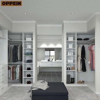 Bedroom Open Type Design L Shape Wardrobes Without Doors ...