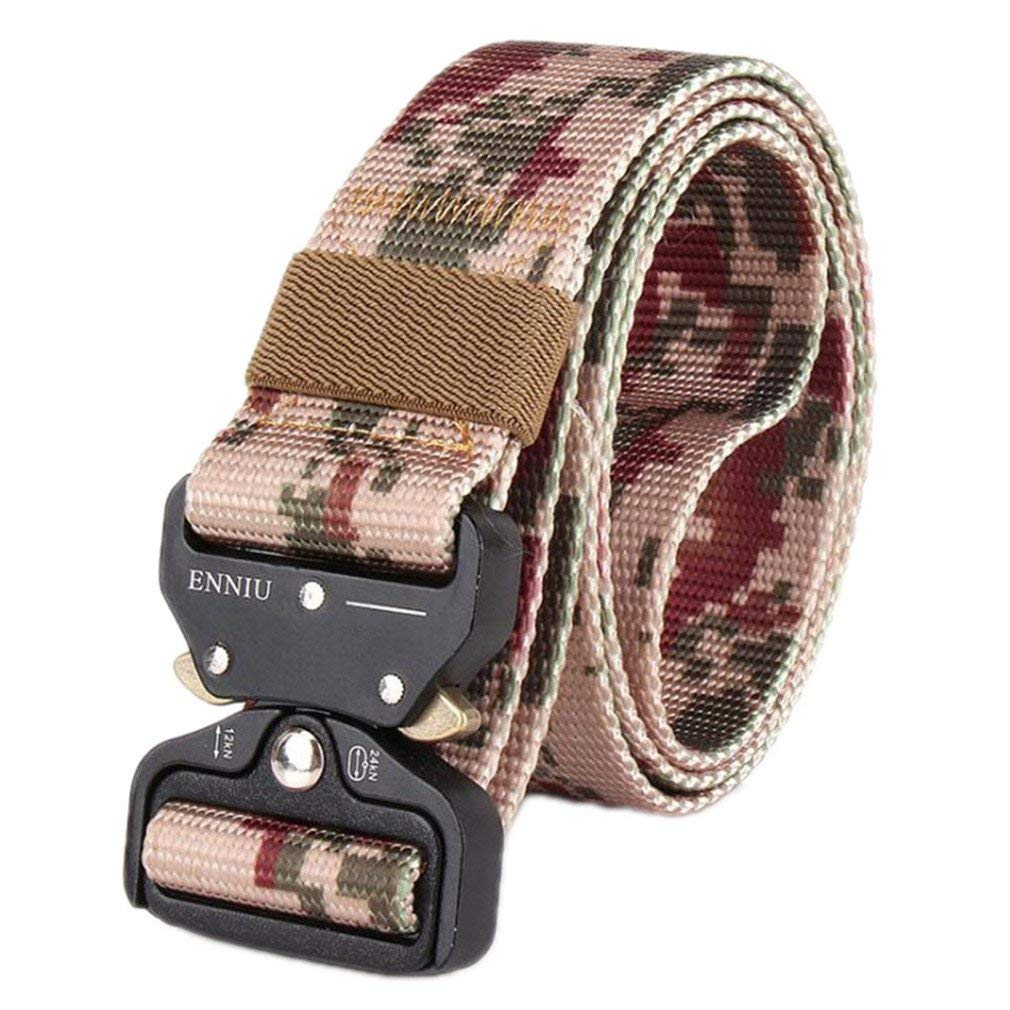 FCNHXJ Men Military Camouflage Belt Paintball Army Belt Heavy Duty Soldier Combat Tactical Belts Waistband