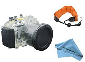 MegaGear 130ft 40m Underwater Waterproof case Housing with Foam Floating Wrist Strap for Panasonic DMC-GF5 with 14-42 lens