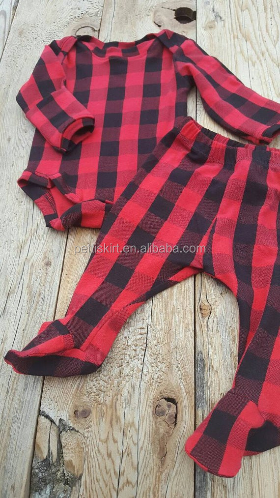 5e4f4fce547d4 Wholesale kids leggings girls black and red holiday leggings baby boy buffalo  plaid pants