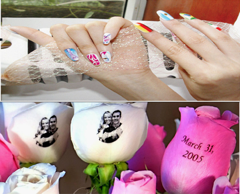 Smart Portable Nail Printer Flower Art Design Machine