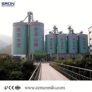SRON Brand Stainless Steel Cement Silo Provider with EPC project