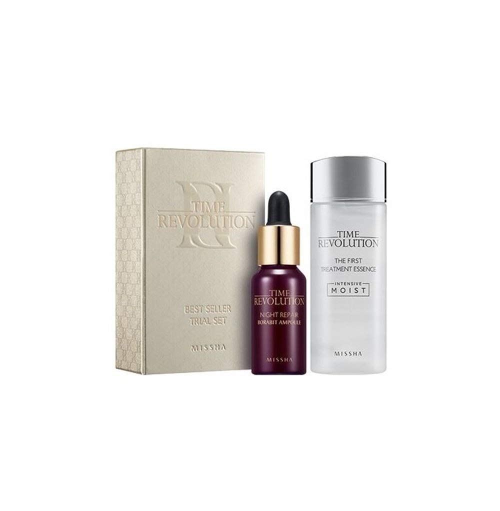 Missha Time Revolution Best Seller Miniature Set - Miniature The First Treatment Essence 30ml + Miniature Borabit Ampoule 10ml