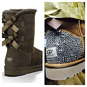 Get Quotations · Custom UGG Boots Made with Swarovski Bailey Bow Free: Shipping, Repair Kit, Cleaning