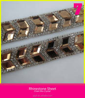 Roll Chain Mix Crystal for Shoes Rhombus Flatback