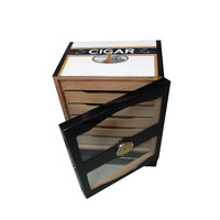 Floor Standing Wooden Cigar Cabinet with Glass Door YIXING3810