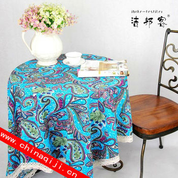 Cheap Goods From China Ramie Cotton Fabric Cloth Lace Table Overlays Exotic  Style Decorative Round Tablecloth