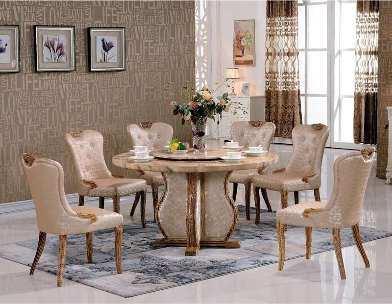 Sedie Per Sala Da Pranzo : Rotondo moderno marmo top rotante sala da pranzo tavolo e sedie per