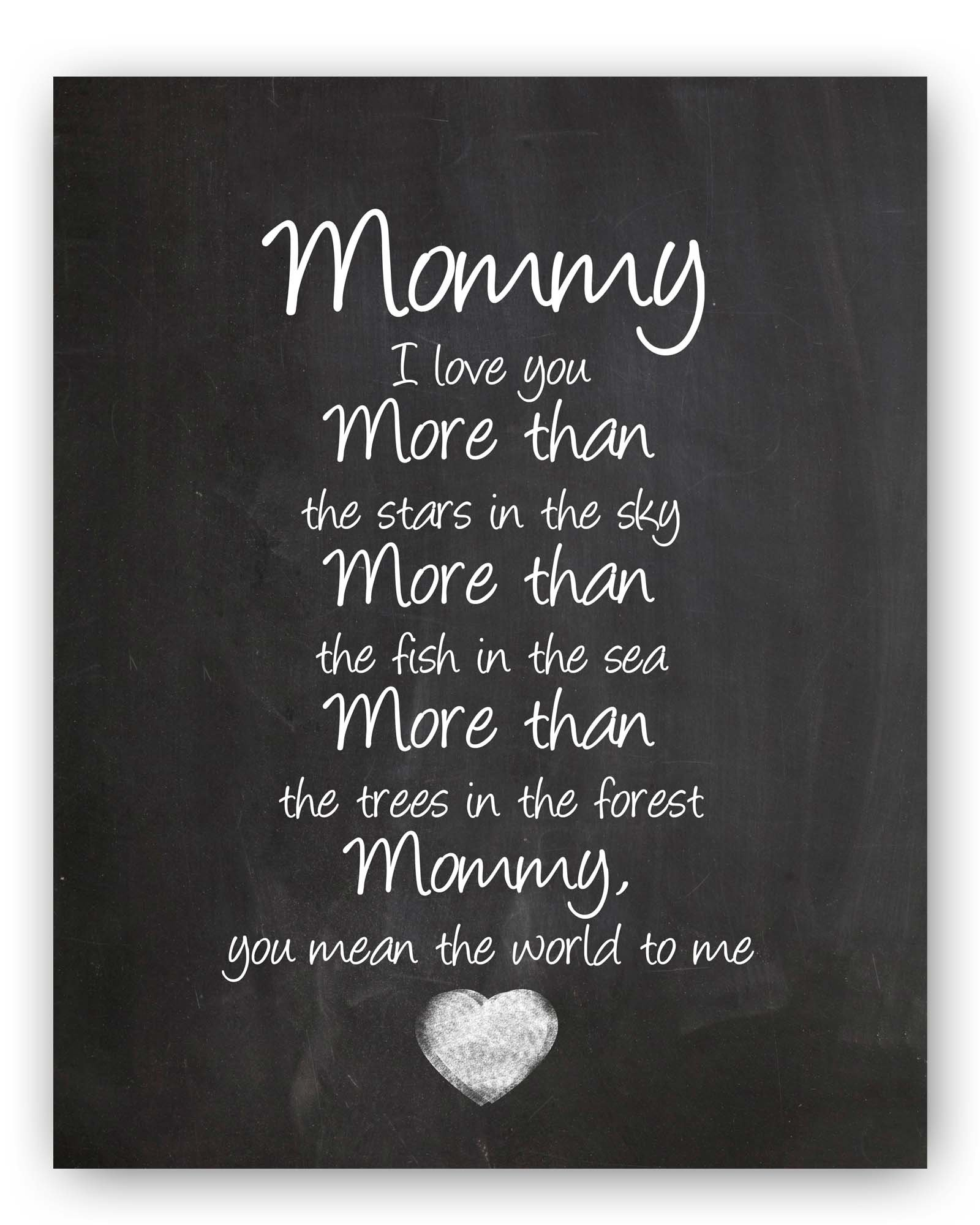 """Mommy Gift, Mommy Quote Chalkboard, Mommy Quote Sign, Mommy Wall Art Print, Special Mommy Gift, Unique Mommy Gift, 8x10"""" Mommy Poem"""
