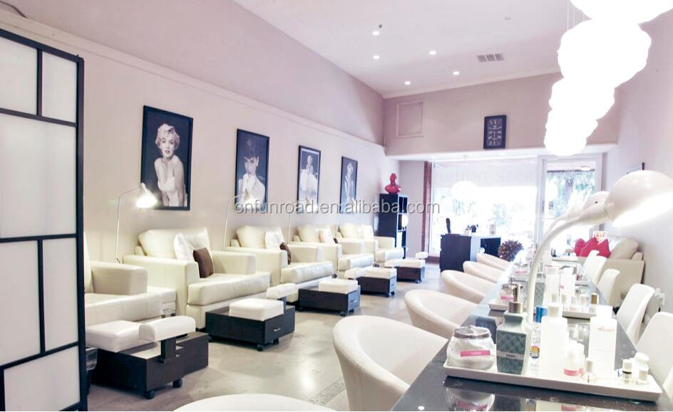 Retail Modern Nail Salon Furniture With Manicure Tables - Buy Nail ...