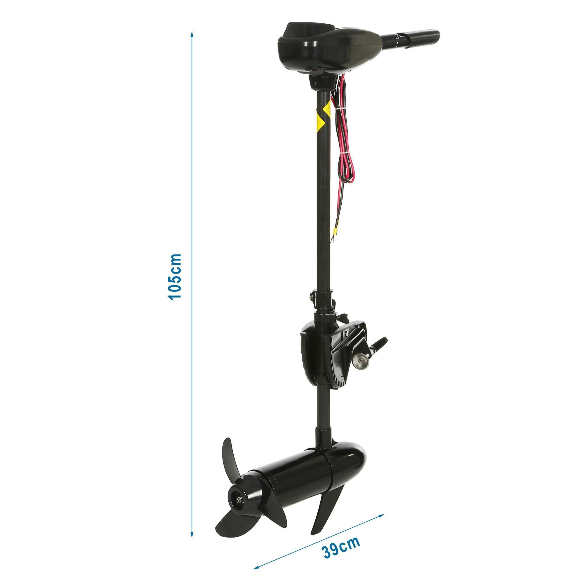 12V 55 Pound Thrust Ship Boat 8 Speed Hand Control Black Trolling Motor for Inflatable Boats [US STOCK]
