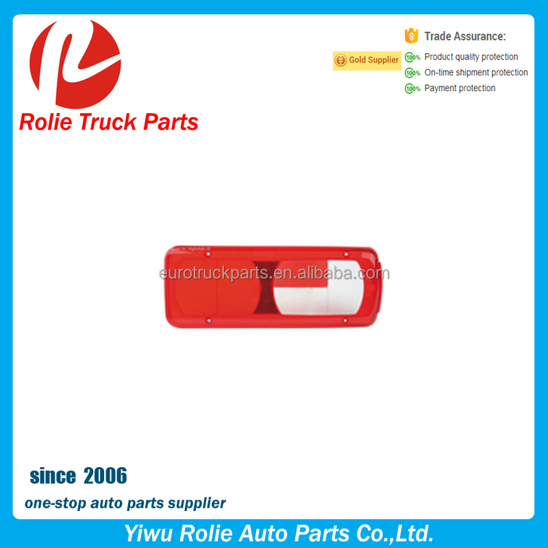 Heavy duty truck parts super quality tail lamp lens RH auto spare parts rear lamp lens with oem 1914691 RH