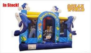 Commercial Bouncy Jumper Inflatable 13 Foot High Ocean World Bounce House- Includes Free (1) 1.5 HP Blower and Accesories- Free Shipping