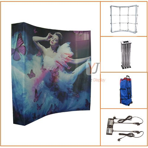 Customized Arc-shaped Or Straight -shaped Pop Up Display Open ...