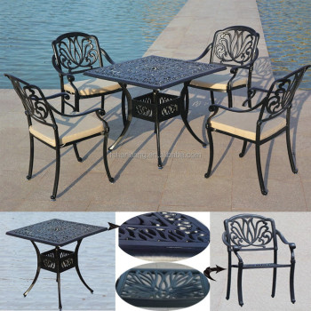 Hot Heavy Duty All Weather Garden Furniture Made Of Cast Aluminum