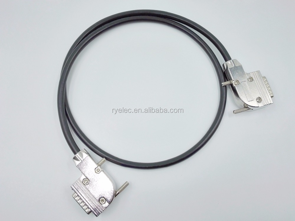 Heavy duty D-sub 15 DB15 Male/Male right angle metal shell/hood Cables