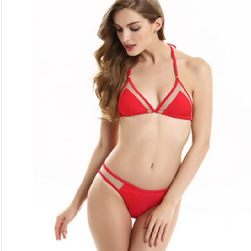 Get Quotations · 2015 summer new hot sexy triangle mesh bikini swimsuit hot  swimwear woman bathing suit beachwear biquini 8f52a774b