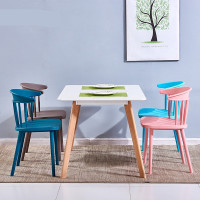 colorful pp plastic chairs dining modern windsor chair