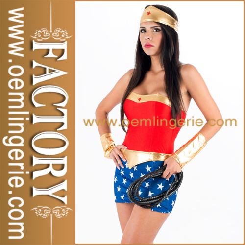 Hign qualité fashon American Movie sexy super merveille Femmes Uniforme
