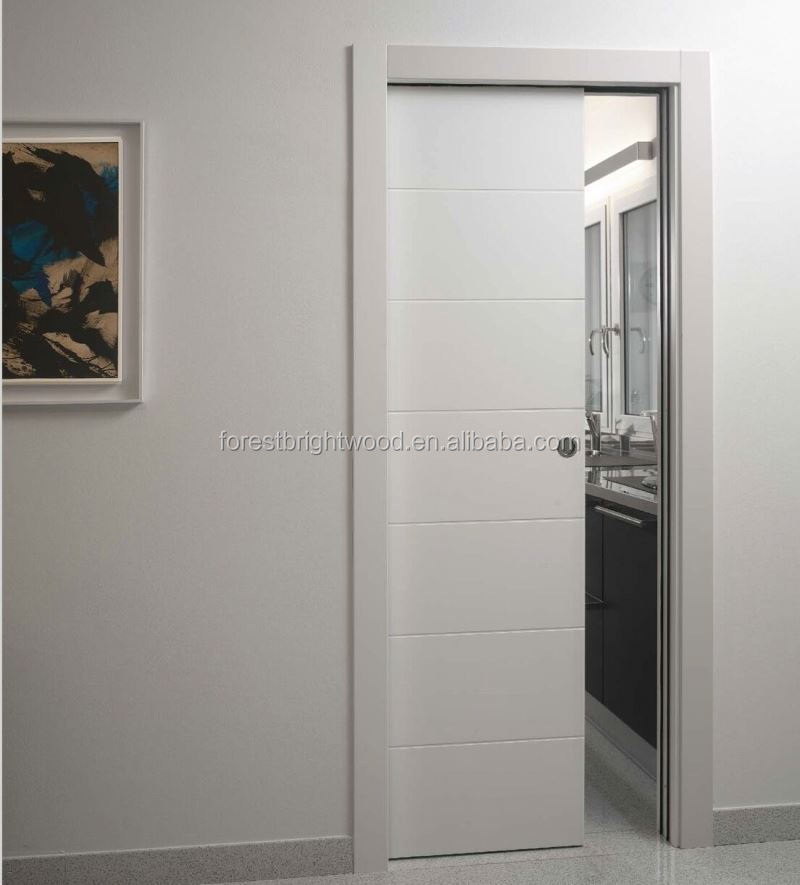 2015 New arrive flush door sliding Kitchen Cabinet door