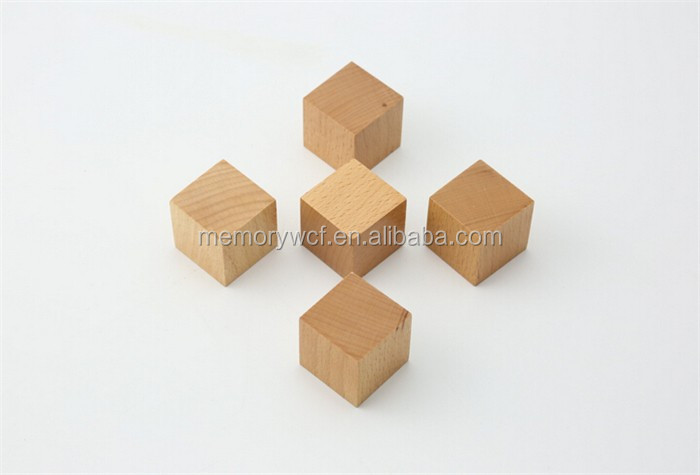 Charming Super Fun Multifunctional Unfinished Wooden Cubes,DIY Toy Wooden Cube Blocks