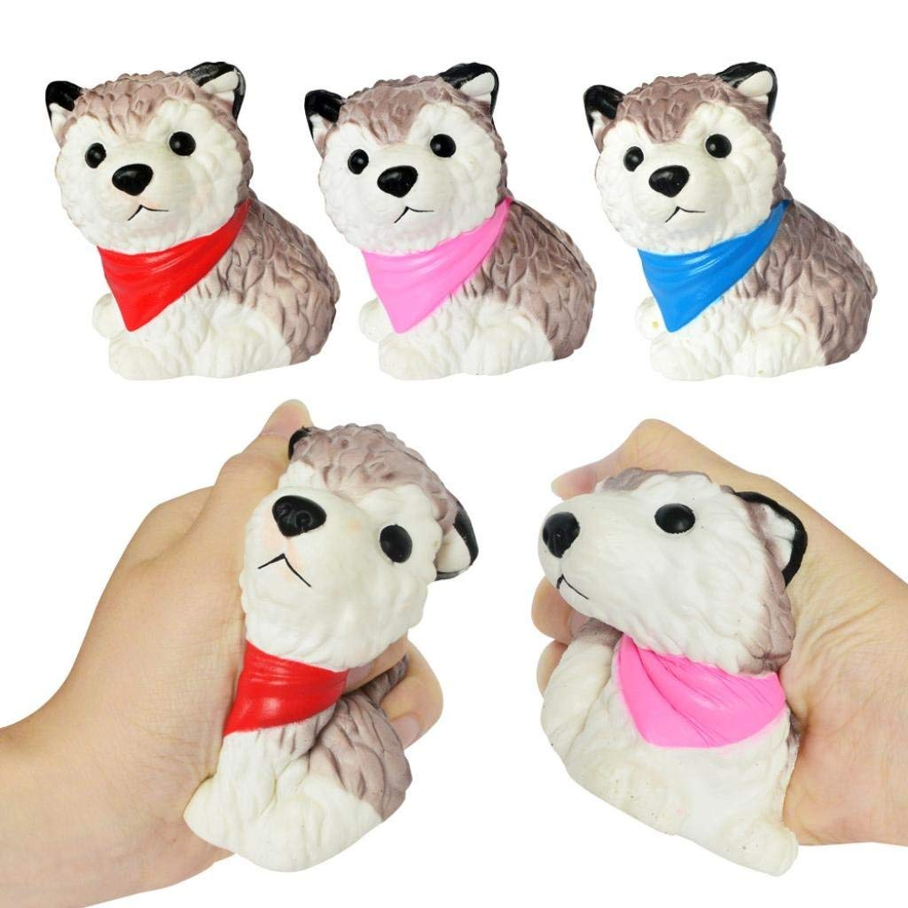 Staron® 1 Pack Squishies Spotted Dog Bread Slow Rising Jumbo Squishy Toys Kawaii Cute Animal Cream Scented Squishies for Kids Stress Reliever Boys Squeeze Party Squishy Toys (A)