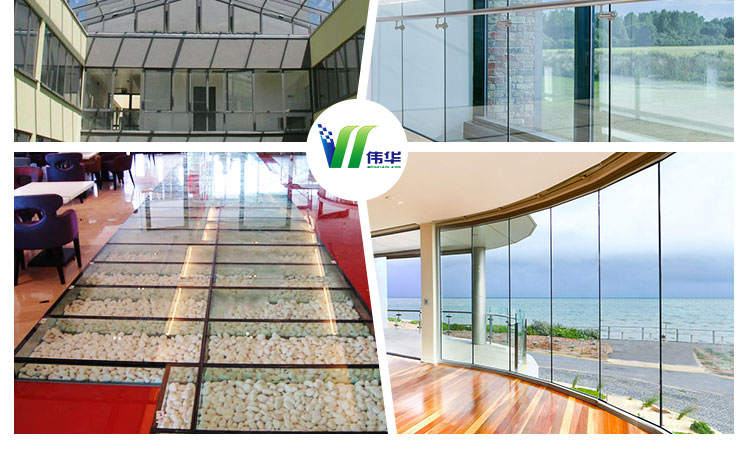 10+1.52+10mm tempered laminated glass floor, 20mm laminated glass