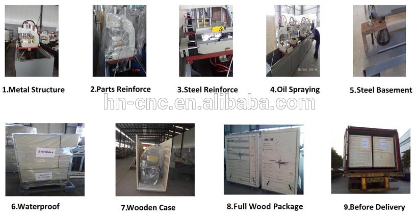 Auto end milling machine fabrication of aluminum windows and doors