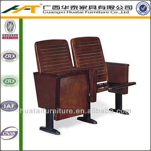 2013 Hot sale movable conference theater chair wooden cinema chair