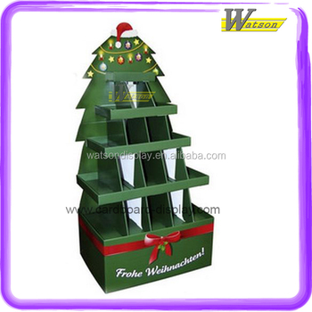 Multiple Floor Free Floor Christmas Tree Corrugated Cardboard Display Stand For Candy And Chocolate Buy Christmas Tree Cardboard Display