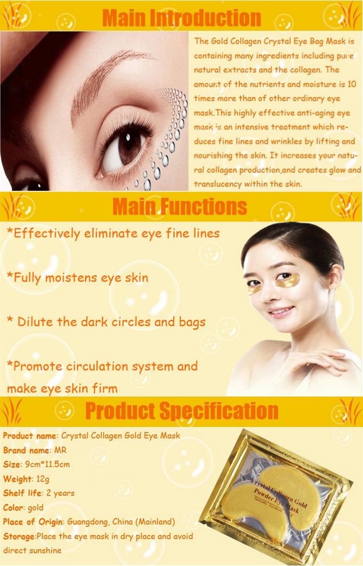 Collagen Eye Masks Gold Aquagel Collagen Eye Mask Ageless Sleep ...