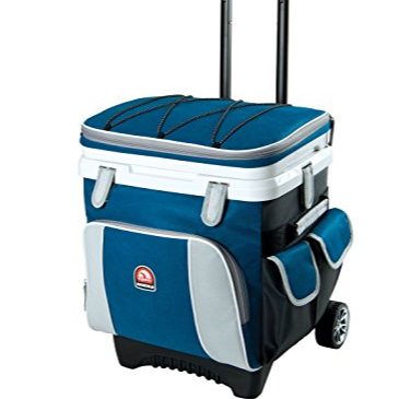 Large capacity 70L insulated trolley cooler bag on wheels leakproof cooler bag ice bag