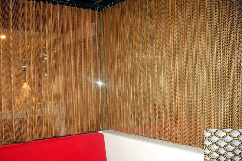 metal mesh curtain/chain link fence /decorative wire mesh for room ...