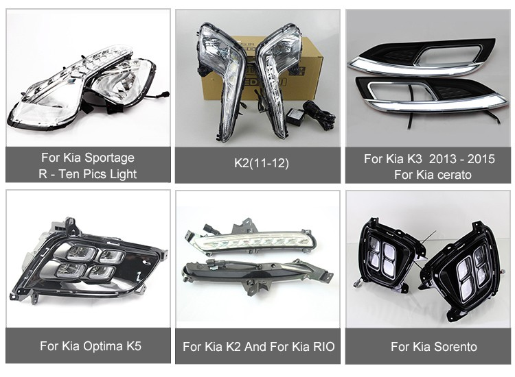 Luce di nebbia E Accessori Led Drl Per Kia Optima k5 2014-2015