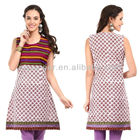 Indian fashion trendy ethnic casual sleeveless tops design(S2042)