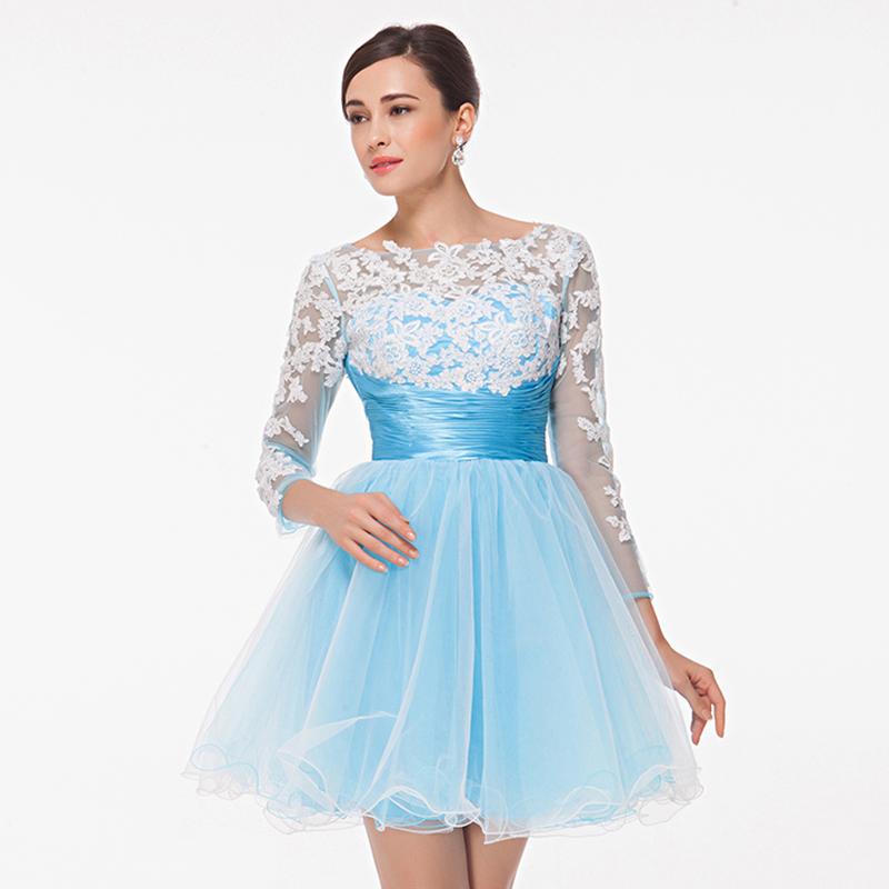8th grade light blue graduation dress