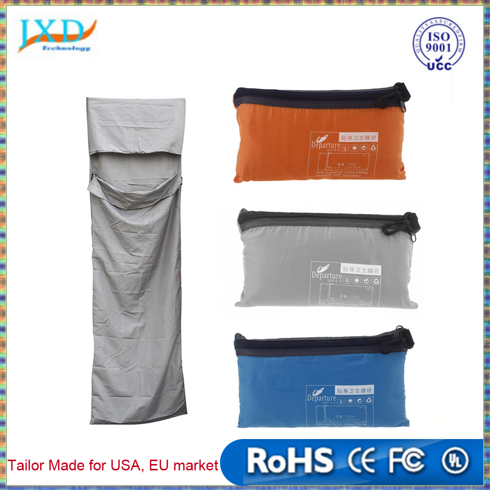 210 * 70cm Ultra-light Portable Single Sleeping Bag Liner Polyester Pongee Healthy Outdoor Camping Travel