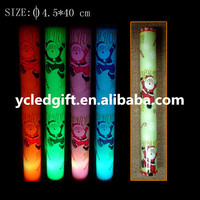 world cup favor multicolored led glow foam stick