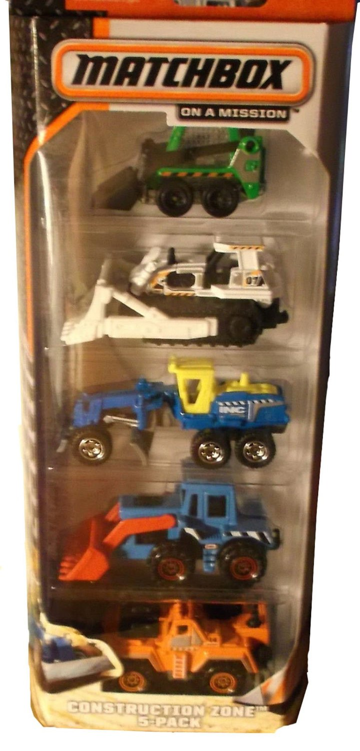 Matchbox On A Mission - Construction Zone-5 Pack