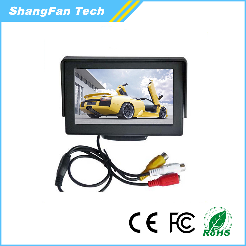 Hot Sale 4.3 inch car led / lcd monitor mini tv for car